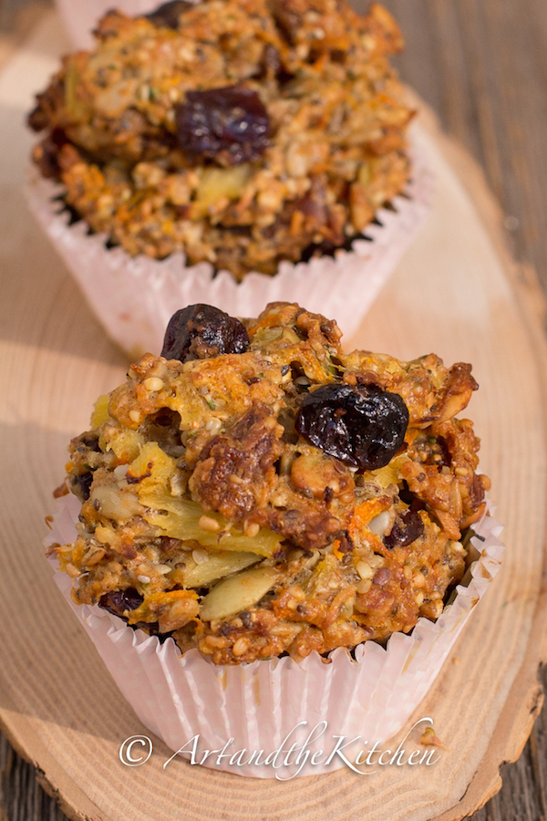 sour cherry fig whole wheat muffin