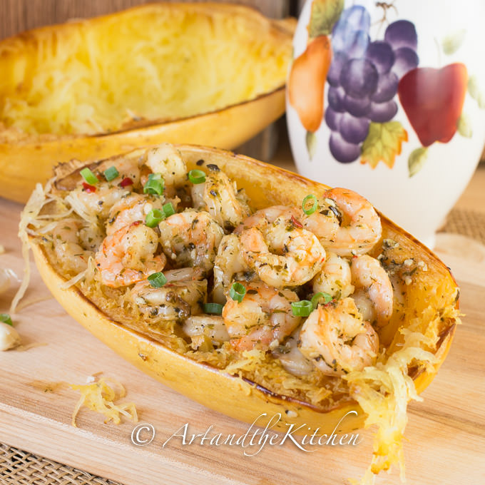 shrimp and spaghetti squash
