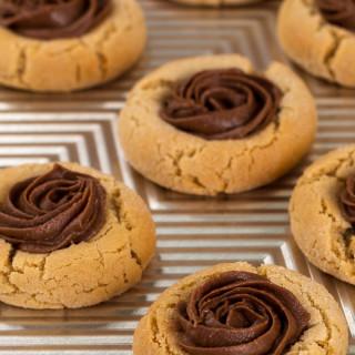Reese Peanut Butter Thumbprint Cookies