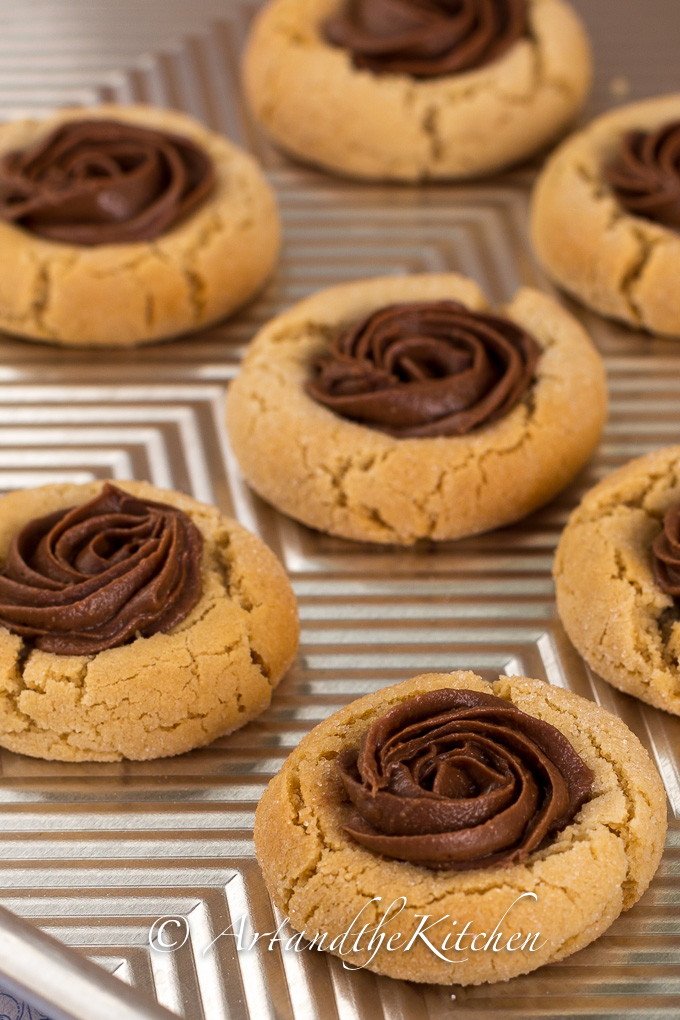 ... butter thumbprint cookies made with reese peanut butter chocolate