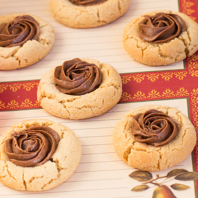 Peanut Butter Thumbprint Cookies with Reese Spread