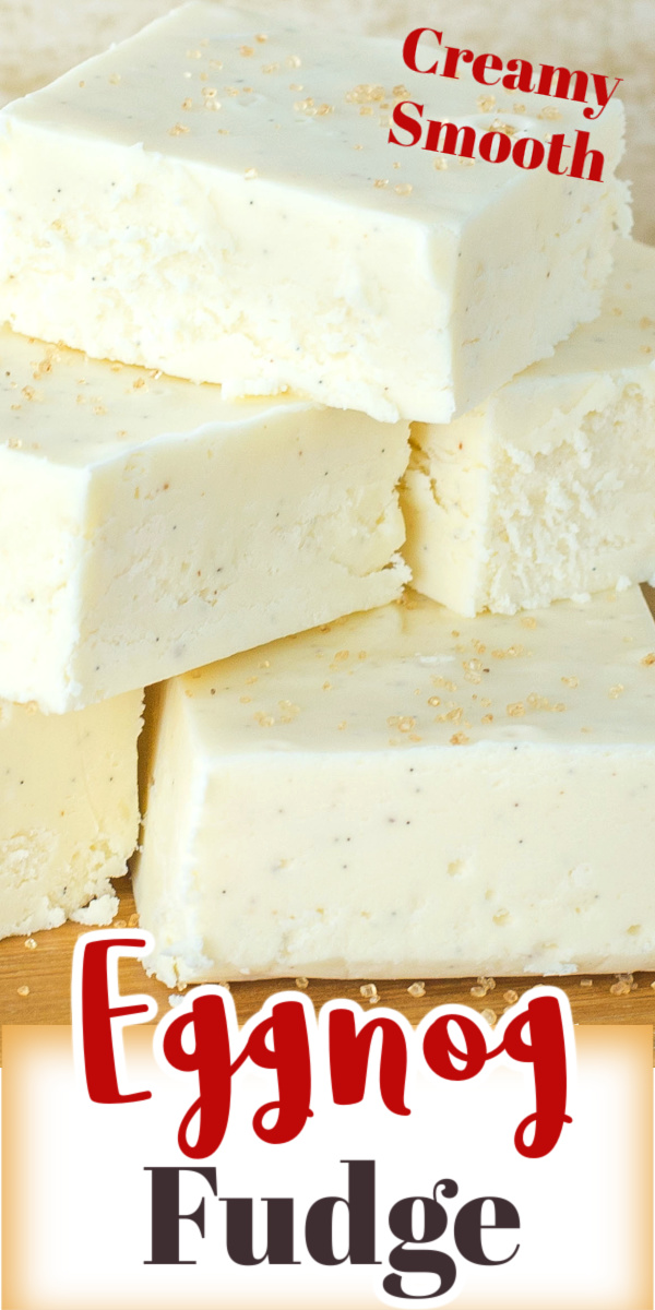 This Eggnog Fudge recipe is so creamy and smooth. An easy to make fudge recipe that is a tasty sweet to add to your Holiday baking.