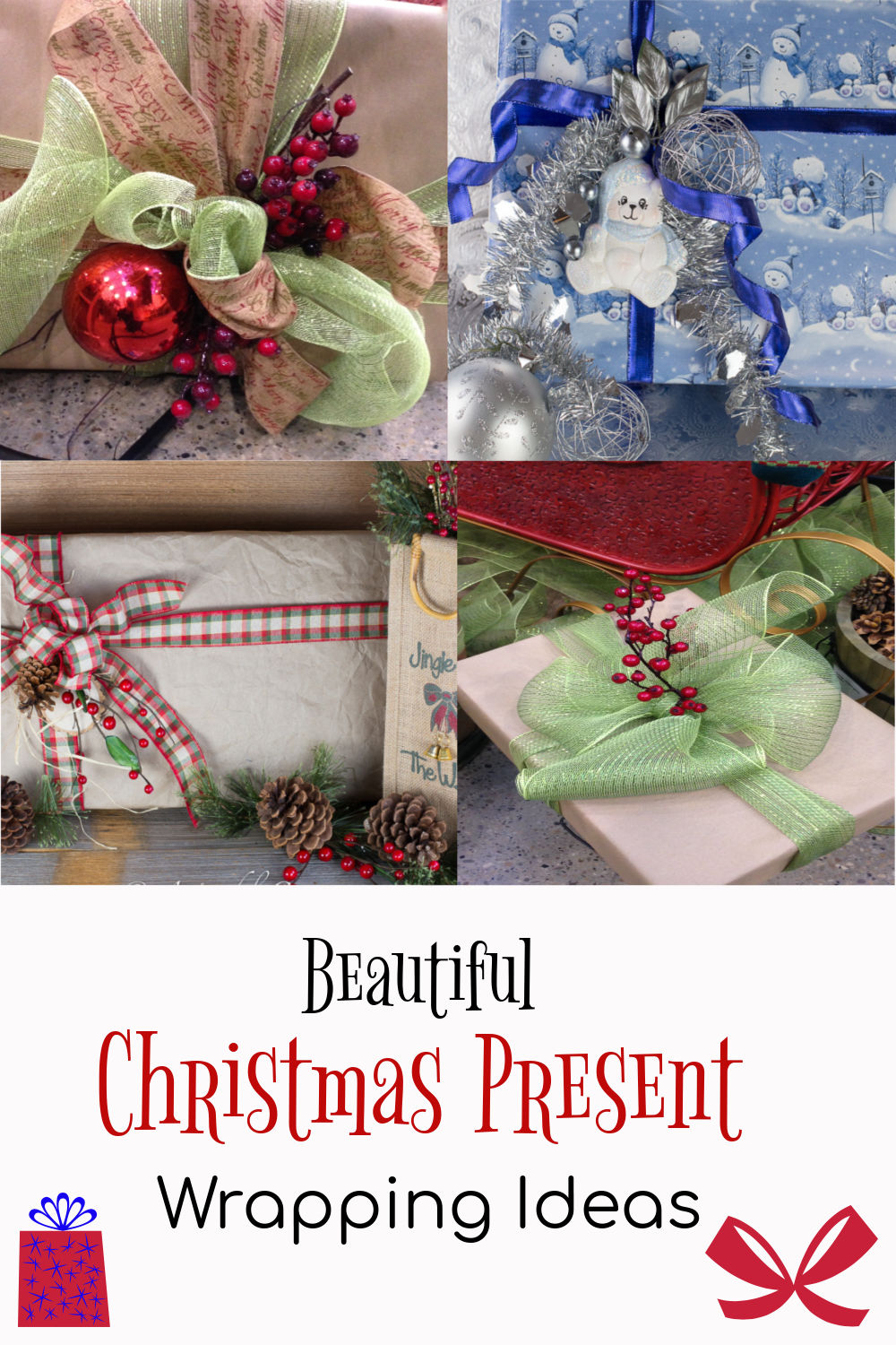 Great ideas for beautifully wrapping Christmas presents via @artandthekitch