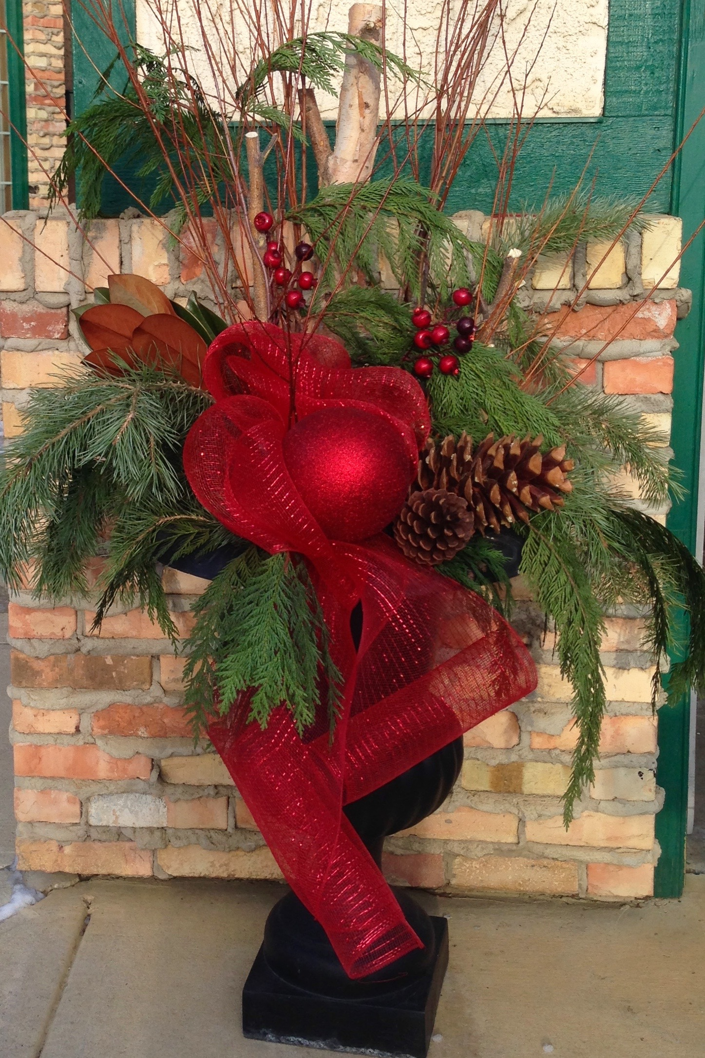 Holiday outdoor planter