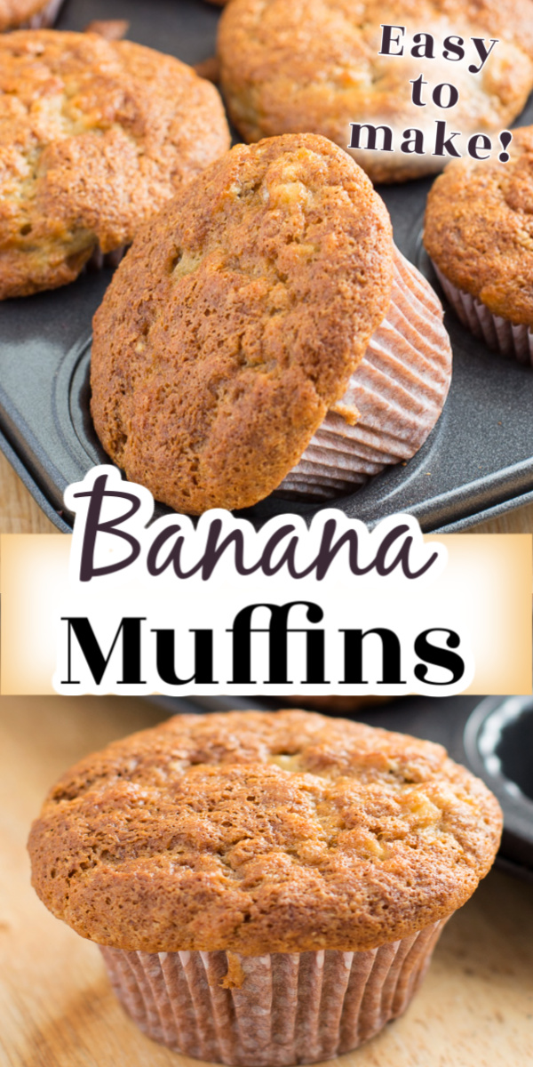 Best Banana Muffins are incredibly soft and moist with tasty, crisp muffin tops. This banana bread recipe is so quick and easy to make with simple ingredients.