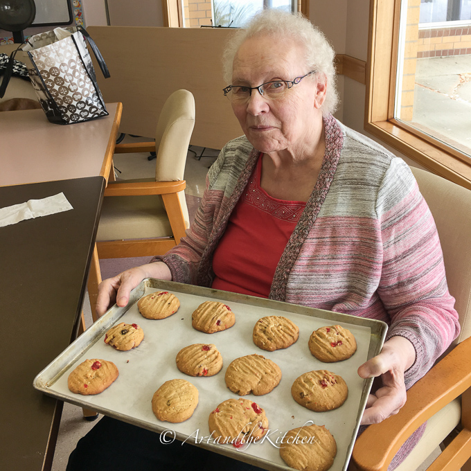 Mom with her freshly baked cookies