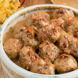 Turkey meatballs in Dairy free cream sauce