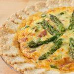 Spring Fresh Asparagus and Gruyere Cheese Quiche