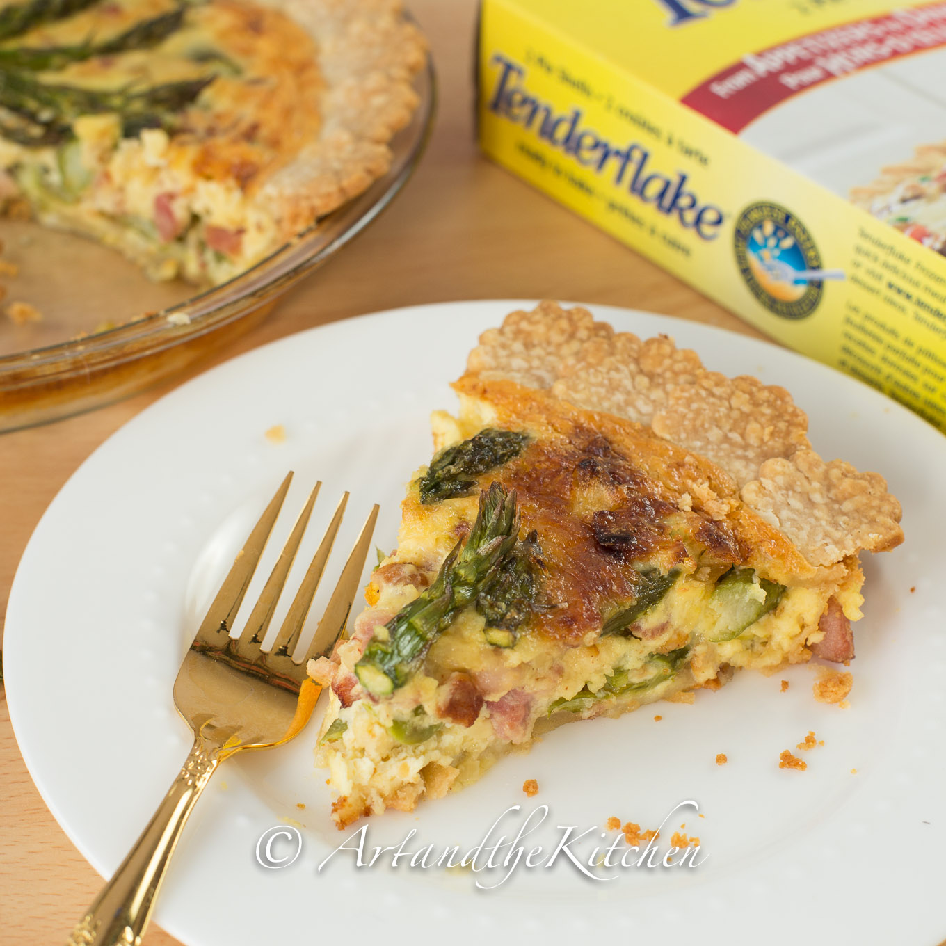 Spring Fresh Asparagus and Gruyere Cheese Quiche | Art and ...