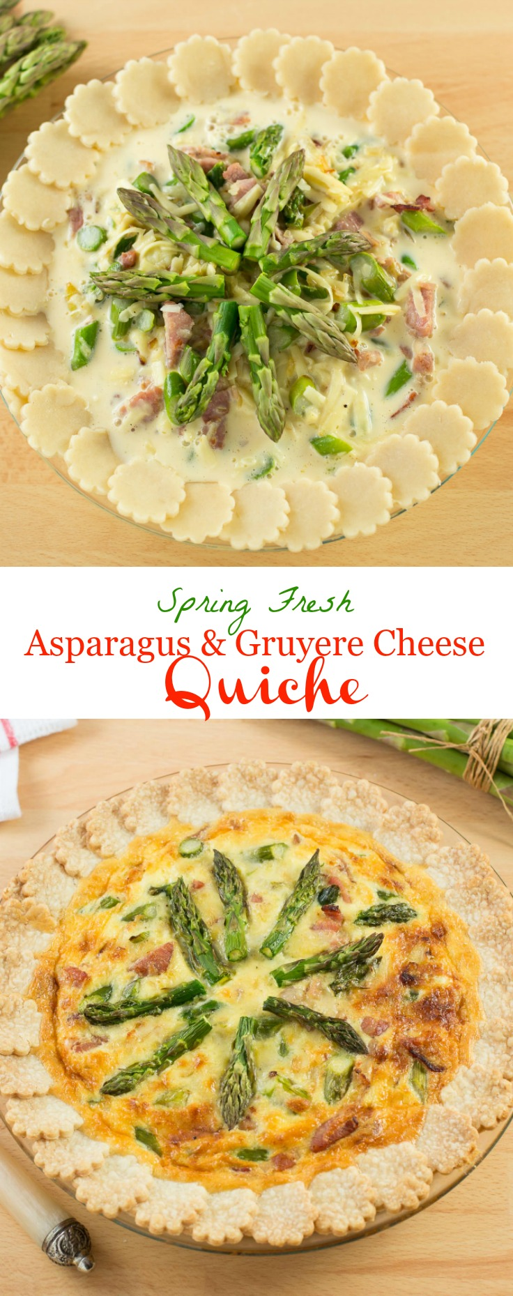Spring Fresh Asparagus and Gruyere Cheese Quiche