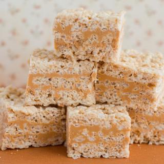 Butterscotch Rice Krispie Squares
