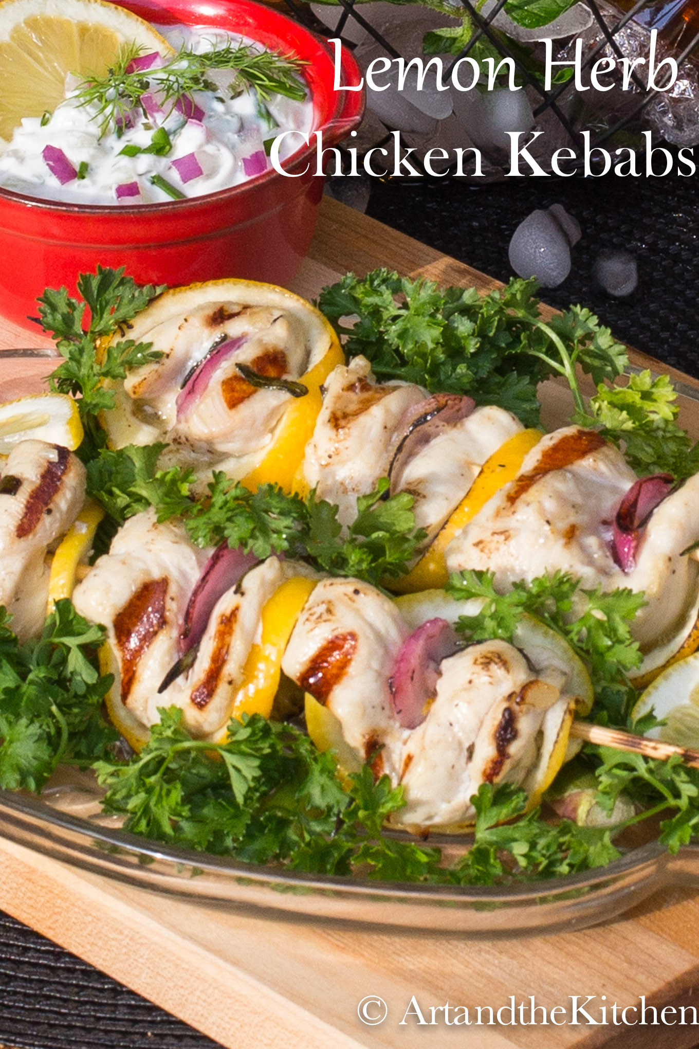 Lemon Herb Chicken Kebabs