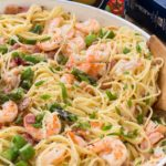 One Pan Shrimp and Asparagus Carbonara