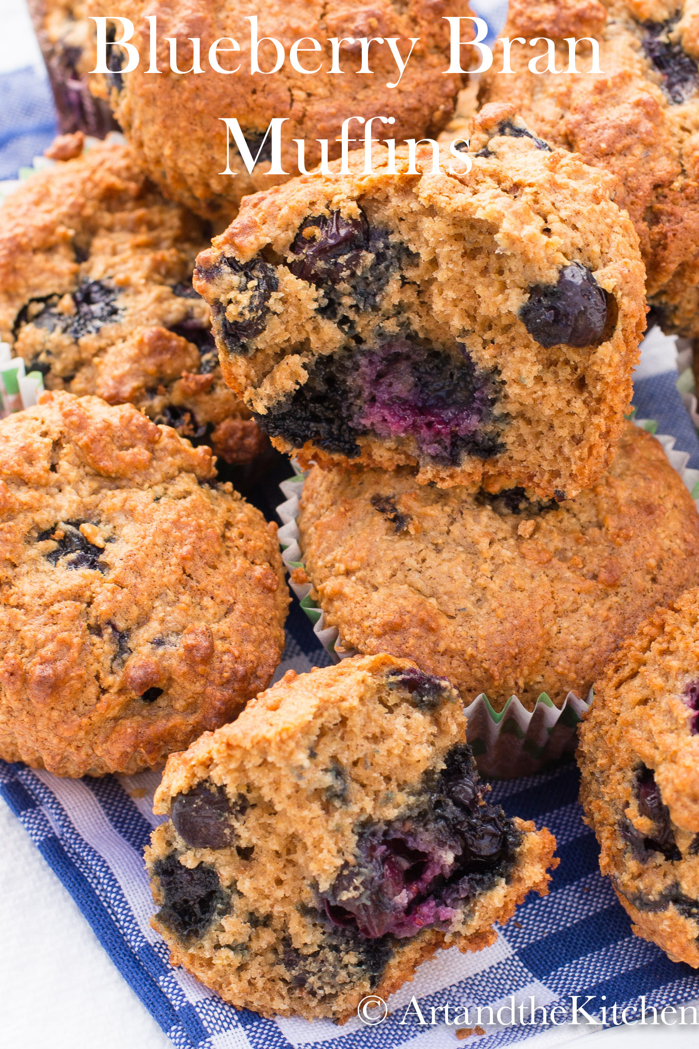 These healthy blueberry bran muffins are made with fresh blueberries, oat bran. A great source of fiber and perfect for breakfast on the go or a healthy snack.