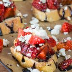 Strawberry Feta Bruschetta
