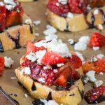 Strawberry Feta Bruschetta