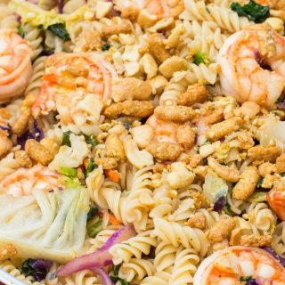 Asian Shrimp Veggie Pasta