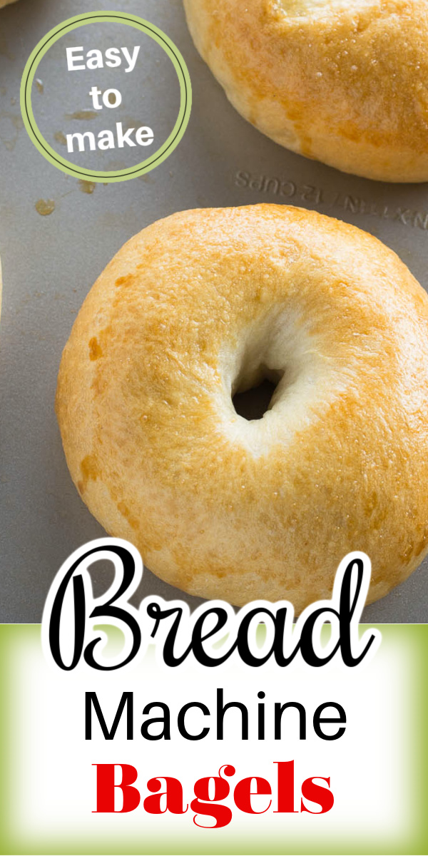 Making homemade bagels is easy using your bread machine. Fresh bagels that are soft, chewy and delicious! via @artandthekitch
