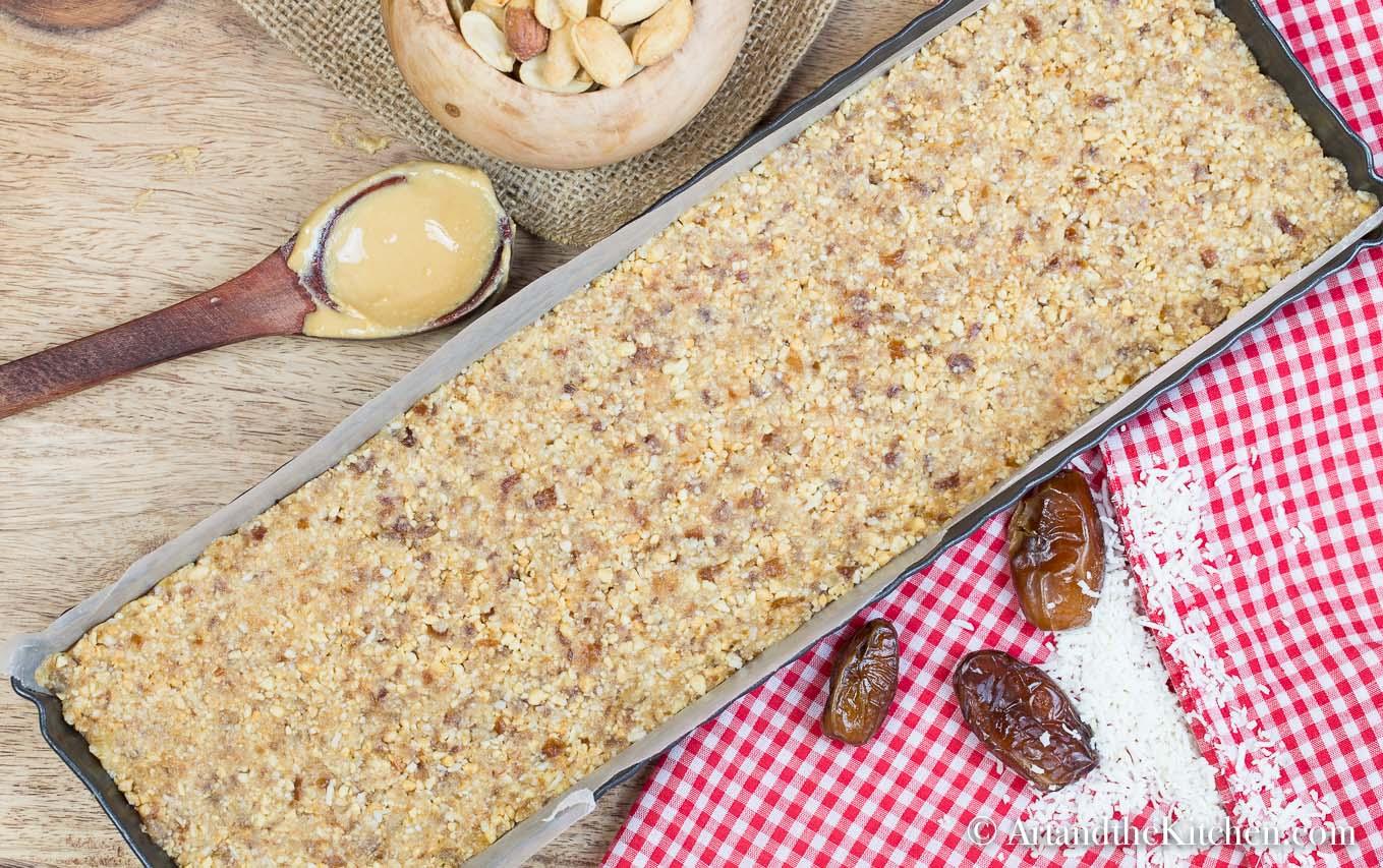Healthy No Bake Peanut Butter Bars