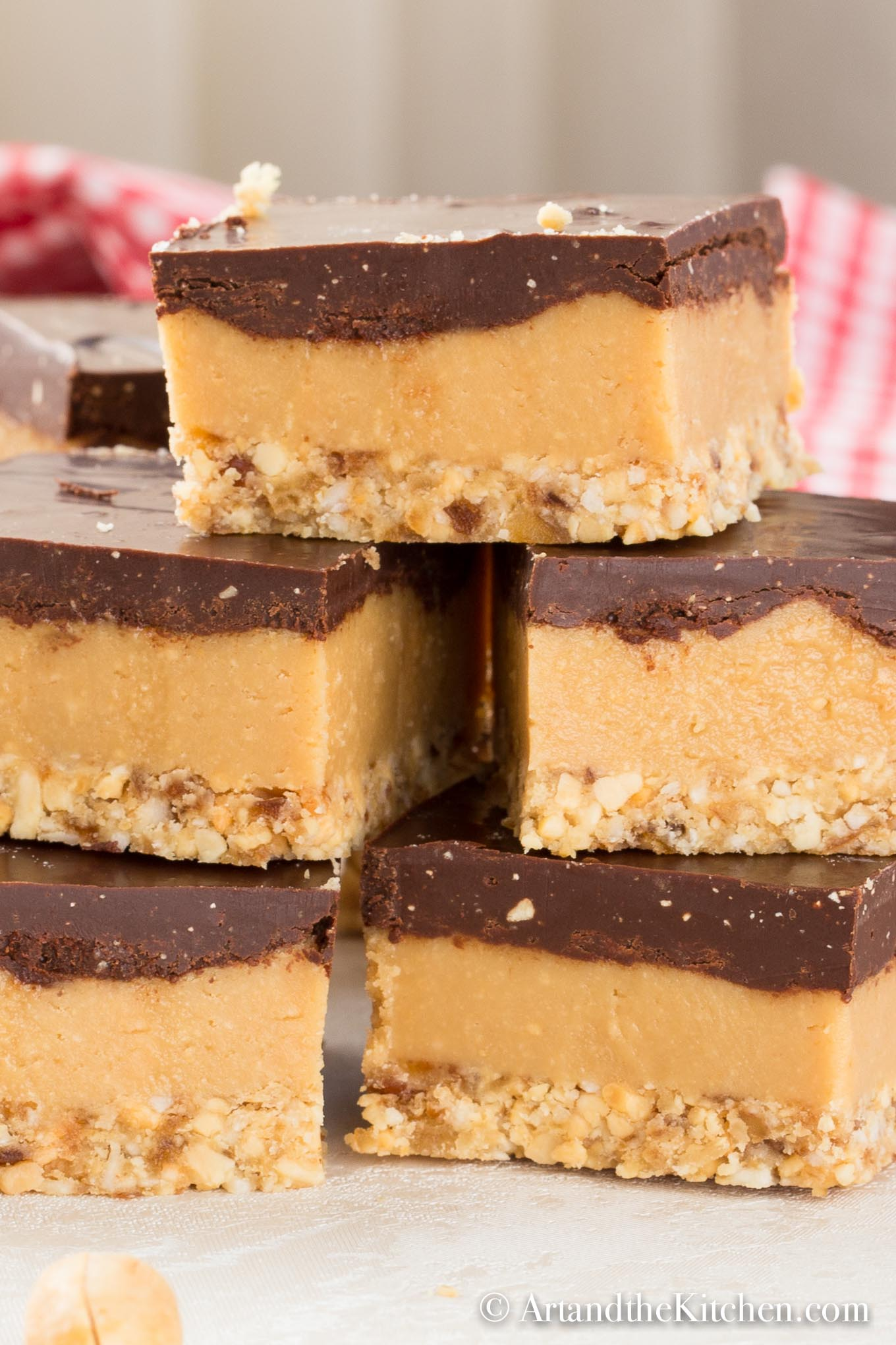 Healthy No Bake Peanut Butter Bars