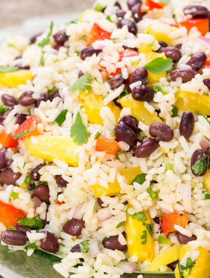 Black Bean Coconut Rice Salad