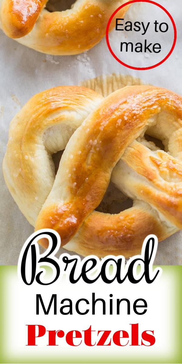Make homemade pretzels using your bread machine. These Bread Machine Pretzels are soft and chewy.