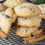 Eggnog White Chocolate Cranberry Cookies