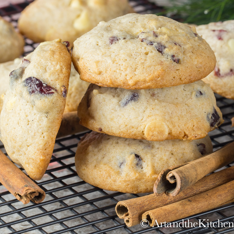Eggnog White Chocolate Cranberry Cookies