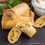 Loaded Baked Potato Spring Rolls