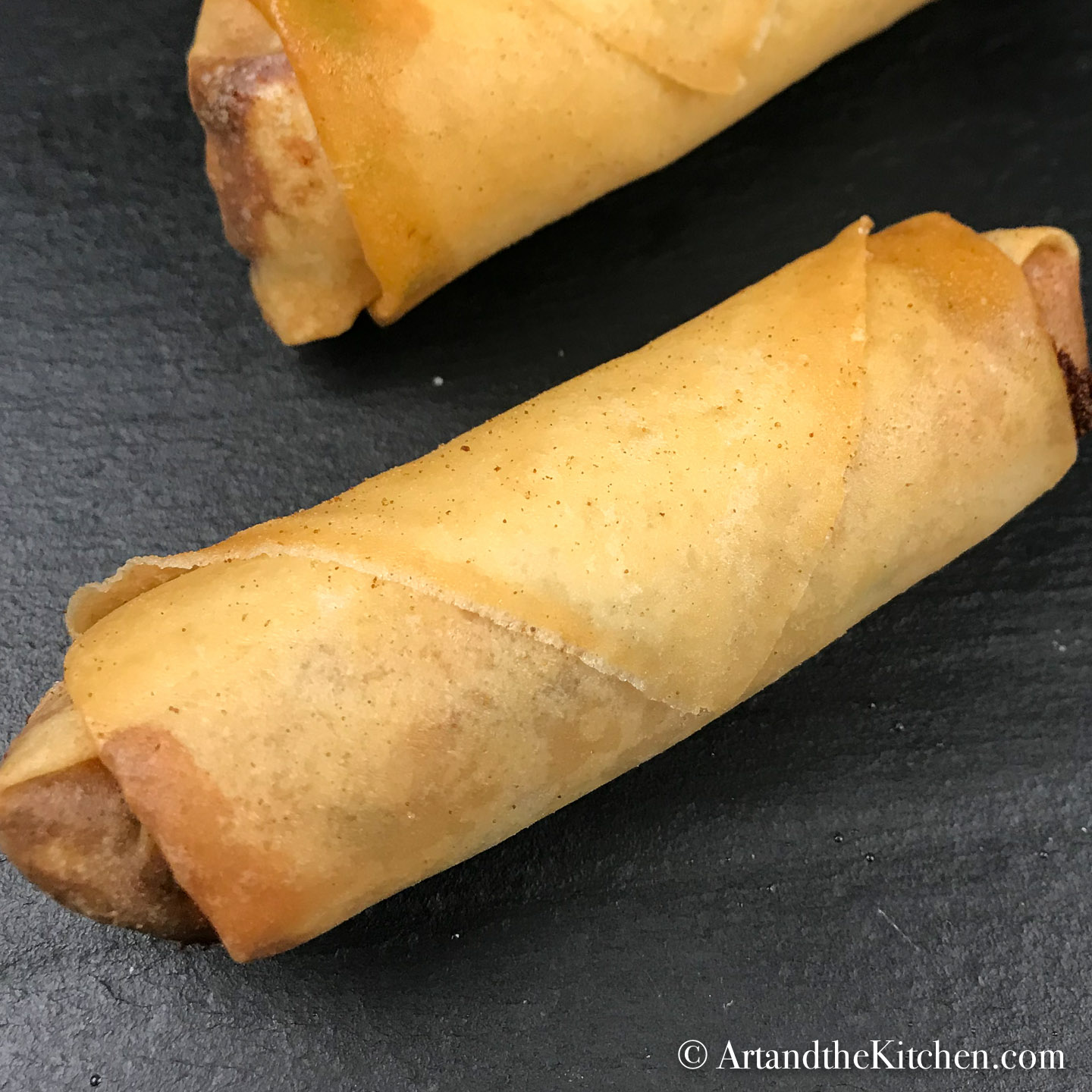 crisp golden homemade spring rolls