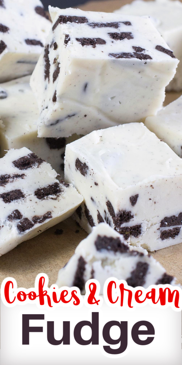 Fudge that is so smooth and creamy made with white chocolate and delicious bits of Oreo cookies. A Holiday favorite fudge recipe!