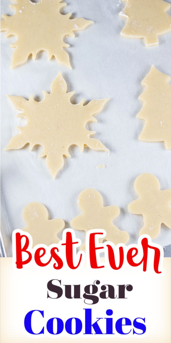 This best ever recipe for sugar cookies is perfect for decorating with icing. Cookies that are soft inside, yet bake up with crisp edges that do not spread.  via @artandthekitch